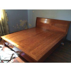 giường xoan đào rát phản kích thước 160x200cm
