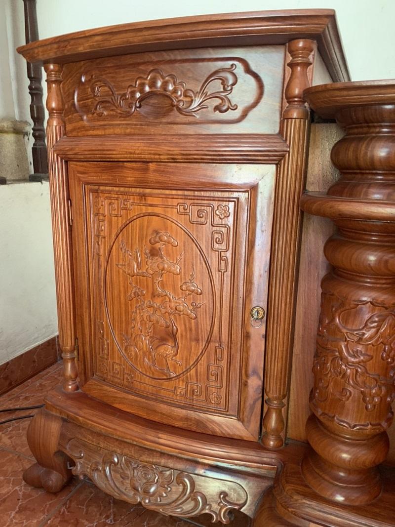 Kệ tivi gỗ hương đá
