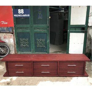 kệ tivi gỗ veneer kích thước 216x46x41cm