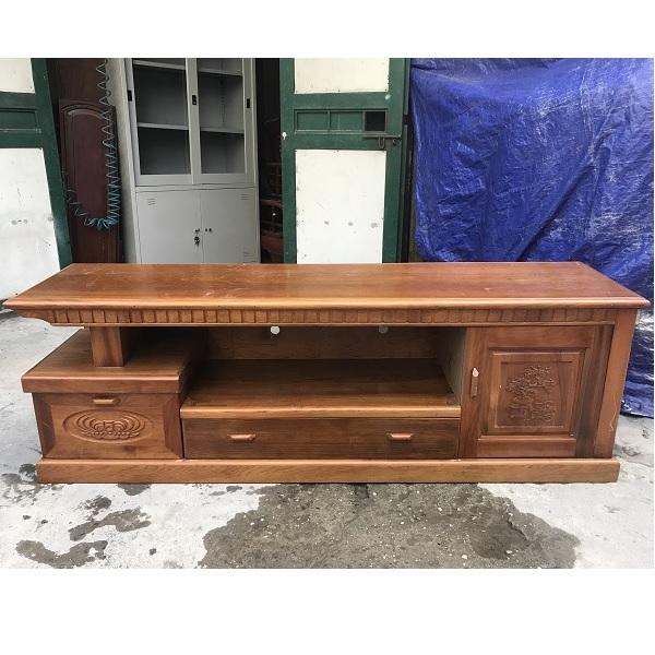 Kệ ti vi gỗ xoan đào kích thước 200x50x45cm