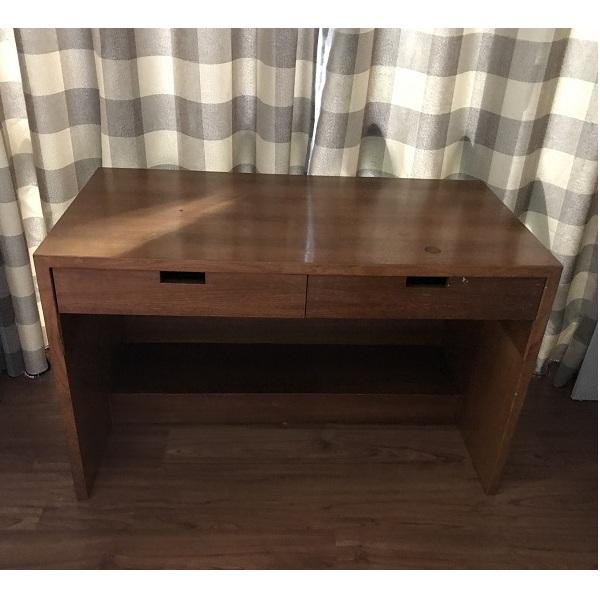 thanh lý bàn làm việc gỗ veneer 2 ngăn kéo
