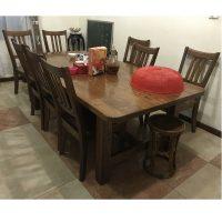 thanh lý bộ bàn ghế ăn gỗ sồi Mỹ xịn 8 ghế