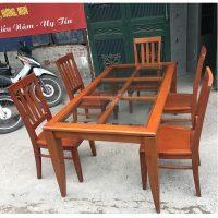 Bộ bàn ghế ăn gỗ xoan đào 5 ghế