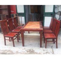 thanh lý bộ bàn ghế ăn gỗ xoan đào 6 ghế
