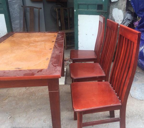 thanh lý bộ bàn ghế ăn gỗ xoan đào 6 ghế_1