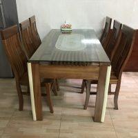 thanh lý bộ bàn ghế gỗ xoan đào 100%