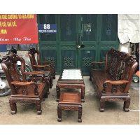 thanh lý bộ bàn ghế minh quốc đào gỗ cẩm thị tay 9