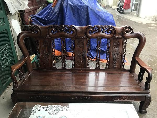 thanh lý bộ bàn ghế minh quốc đào gỗ cẩm thị tay 9 1