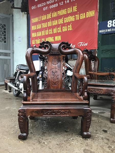 thanh lý bộ bàn ghế minh quốc đào gỗ cẩm thị tay 9 2