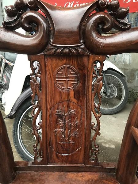 thanh lý bộ bàn ghế minh quốc đào gỗ cẩm thị tay 9 4