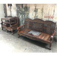 thanh lý bộ bàn ghế xalong gỗ lim ta