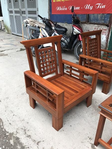 thanh lý bộ bàn ghế xoan đào xịn 1