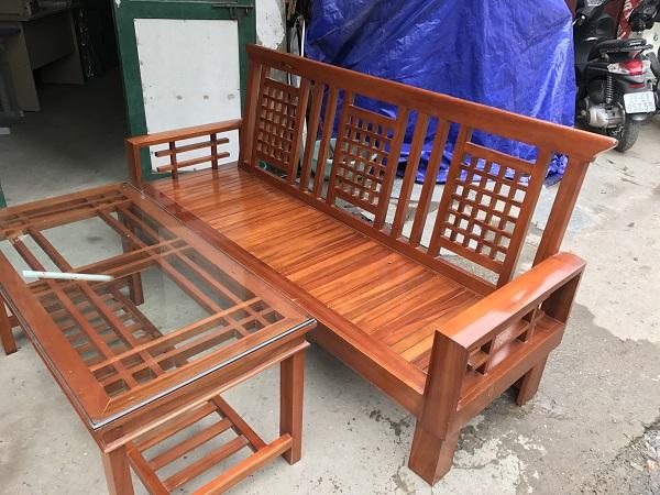 thanh lý bộ bàn ghế xoan đào xịn 2