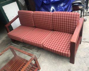 thanh lý bộ sofa gỗ đệm gỗ tự nhiên 2