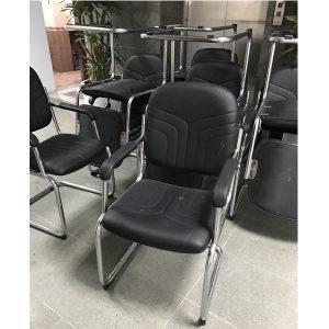 thanh lý ghế chân quỳ da khung inox