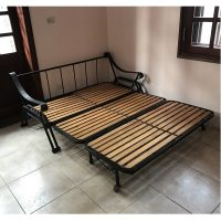 Thanh lý giường đa năng sắt gỗ sồi nhập khẩu kt 140x180cm