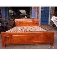 thanh lý giường gỗ xoan đào kt 160x200cm