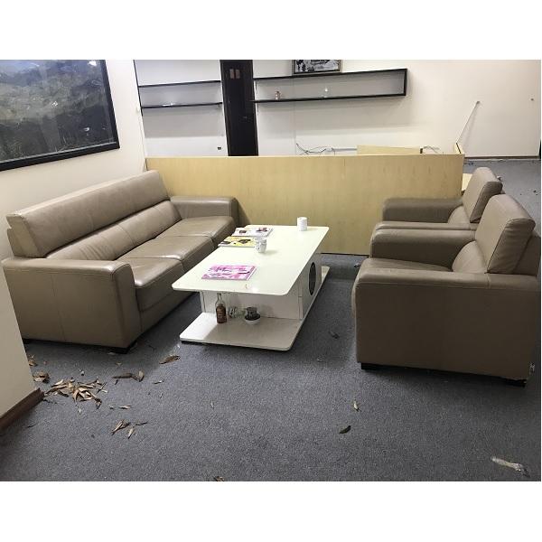 thanh lý bộ sofa da nhập khẩu kèm bàn
