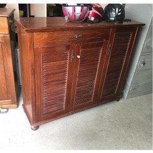 Thanh lý tủ giầy gỗ xoan đào giá rẻ kt 120x100x35cm