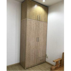 Thanh lý tủ quần áo gỗ công nghiêp 2 cục kích thước 125x260cm