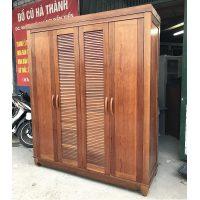 thanh lý tủ quần áo gỗ xoan đào 4 cánh