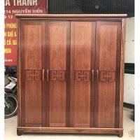 thanh lý tủ quần áo gỗ xoan đào hàng đặt đóng