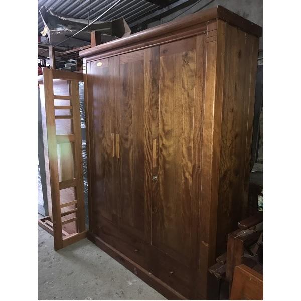 thanh lý tủ quần áo gỗ xoan đào kt 165x210x62cm