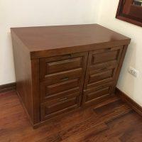 Tủ ngăn kéo gỗ xoan đào hàng đặt đóng