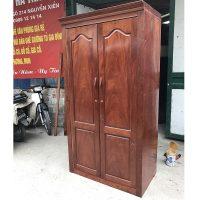 Tủ quần áo 2 cánh gỗ xoan đào