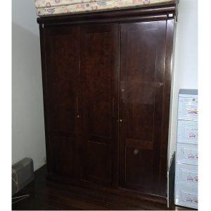 Tủ quần áo 3 cánh gỗ gội kích thước 160x210x60cm