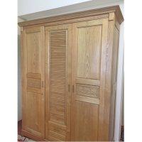 Tủ quần áo 3 cánh gỗ sồi nga kích thước 160x210x60cm thanh lý
