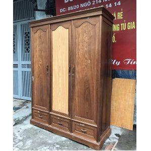 Tủ quần áo gỗ dổi hàng đặt đóng