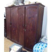 Tủ quần áo gỗ nghiến 4 cánh