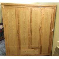 Tủ quần áo gỗ sồi nga kích thước 190x210x60 mớii 90%