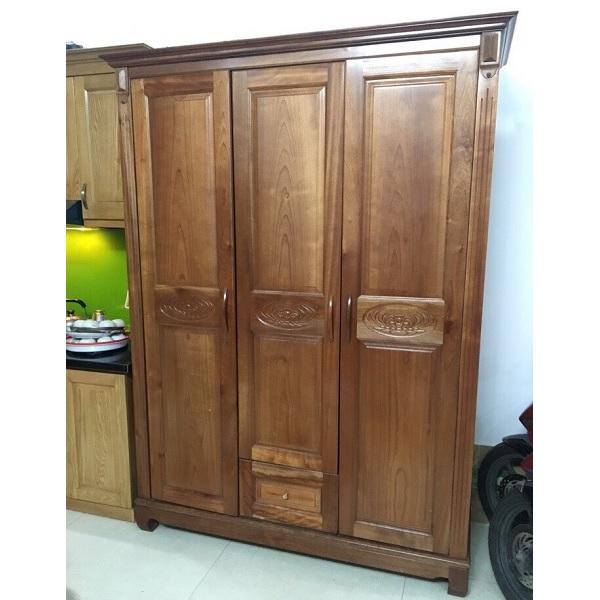 Tủ quần áo gỗ xoan đào 3 cánh