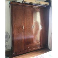 Tủ quần áo gỗ xoan đào 4 cánh kích thước 195x210x62cm