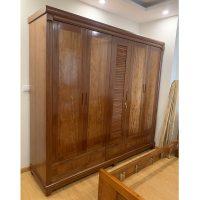 tủ quần áo gỗ xoan đào 5 cánh
