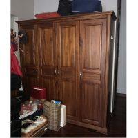 Tủ quần áo gỗ xoan đào Hoàng Anh Gia Lai kích thước 200x210x62cm