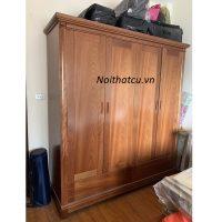 Tủ quần áo gỗ xoan đào xịn 4 cánh
